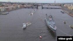 Военный парад в Санкт-Петербурге 25 июля 2021 года