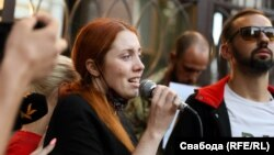 Божена Жолудь в Киеве на акции памяти Шишова