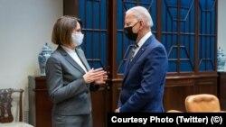 Встреча Светланы Тихановской и Джо Байдена в Белом доме в Вашингтоне, 28 июля 2021 года. Фото: Белый дом
