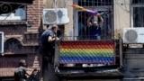 "Georgia - Anti ""Tbilisi pride"" rally. Raid the office of ""Tbilisi Pride"""