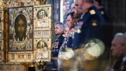 Освящение главного храма Вооруженных сил России в подмосковной Кубинке. Фото: EPA
