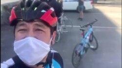 В столице Кыргызстана отбирают велосипеды у нарушителей режима чрезвычайного положения