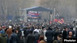 Протесты оппозиции в центре Еревана