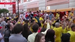 Как Нижний Новгород встречал шведских болельщиков