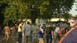 Столкновения мигрантов с полицией на границе Сербии и Венгрии