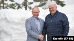 Владимир Путин и Александр Лукашенко в Сочи, 22 февраля 2021 года