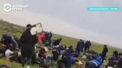 Сотни узбекистанцев живут под открытым небом у Самары
