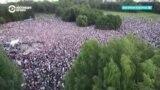 Митинг Тихановской в Минске собрал 63 тысячи человек. Как это было