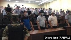 Оглашение приговора по делу о взрывах на складе боеприпасов в Арыси. Шымкент, 26 июля 2021 года
