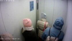 Видео задержания Артема Загребельного с камеры в лифте