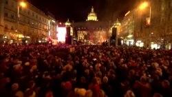 """Как Прага отметила 30 лет """"бархатной революции"""" в Чехословакии"""