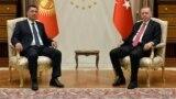 President Sadyr Japarov met with President of Turkey Recep Tayyip Erdogan in a tete-a-tete format. Ankara, Turkey.