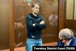 Координатор штаба Навального в Москве Олег Степанов во время избрания меры пресечения в Тверском суде, 29 января 2021 года. Фото: ТАСС