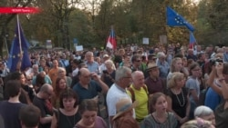 У посольства России в Праге прошел протест в годовщину событий 1968-го