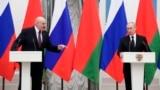 Александр Лукашенко и Владимир Путин на пресс-конференции после встречи в Кремле 9 сентября 2021 года. Фото: ТАСС