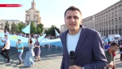В Украине отметили День крымскотатарского флага